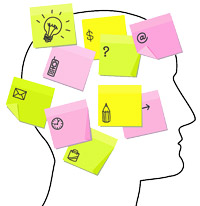 Brain post-it questions image